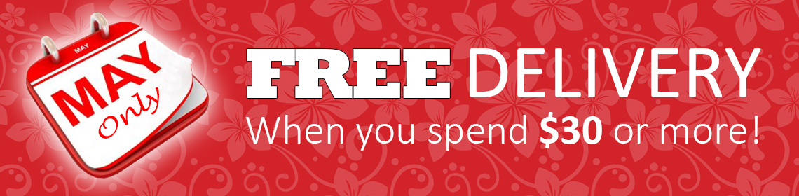 Free delivery with any order over $30 in May!